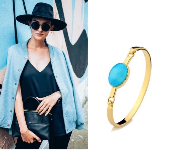 pulseira azul