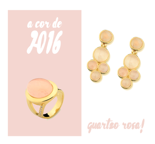 quartzo rosa a cor de 2016